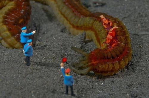Miniature People in Under Water (by Jason Isley)