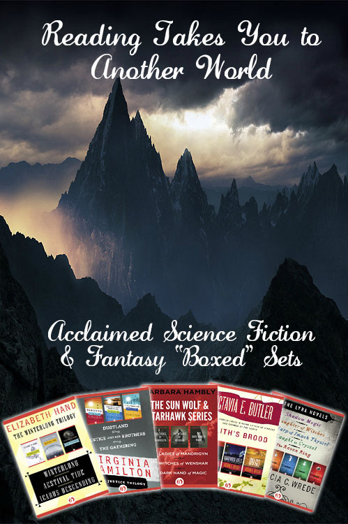 Discover another world and dive into a series by award-winning science fiction and fantasy authors. Affordable ebook collections by Octavia E. Butler, Elizabeth Hand, Patricia C. Wrede, and more.  Browse the collection, or find your perfect science fiction series here.