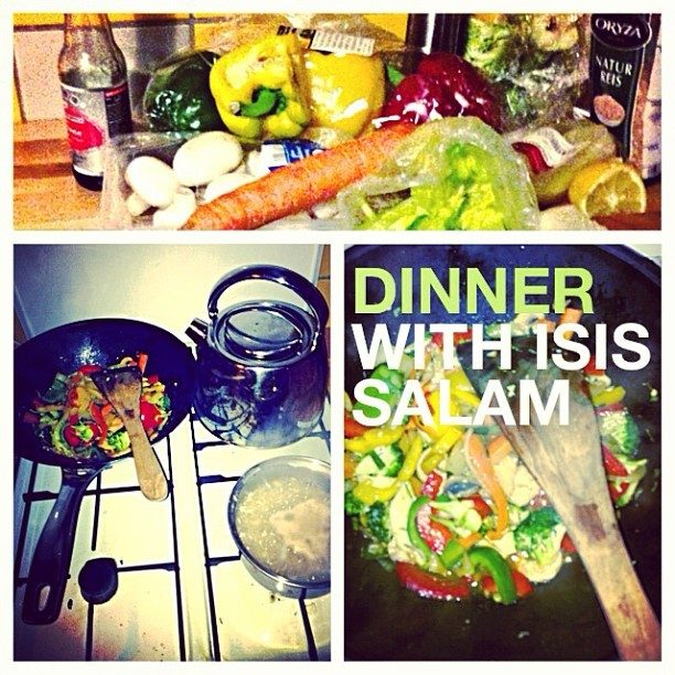 #dinner with #IsisSalam @icedawgdadon #foodporn #writing #recording #session over some #homemade #stirfry #celinedion level fabulous