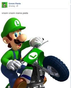 falloutnewvegans:  sometimes when i am alone and sad Green Mario comes up to me and speaks words of wisdom to keep me going