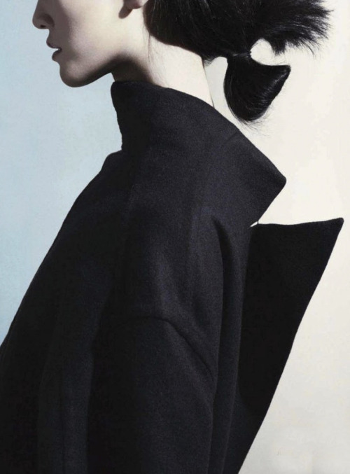 """Coat tails"". Photographed by Marcus Ohlsson for Marie Claire June 2012"