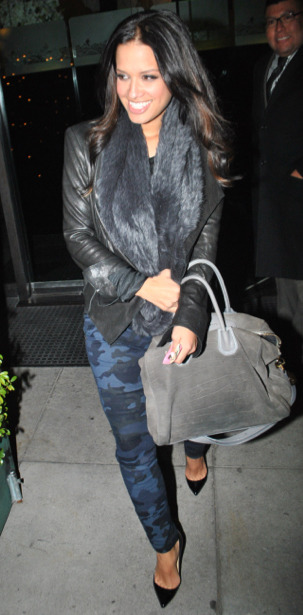 Steal : Rocsi Diaz's Mr. Chow Zara Blue Camouflage Pants