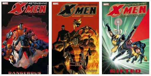 My cannonball read reviews (# 21, 22, 23).    21 / Astonishing X-Men, Vol 1: Gifted by Joss Whedon  22 / Astonishing X-Men, Vol 2: Dangerous by Joss Whedon  23 / Astonishing X-Men, Vol 3: Torn by Joss Whedon  Fun! Funny! Exciting! If you like Joss Whedon, and/or Wolverine, and/or comics in general, read this series.  Four stars.