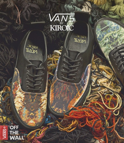 Shanghai-based cobbler Kim Kiroic hooked up with @Vans to produce these beautiful authentic sneakers for S/S 13, we love the digital tapestry print