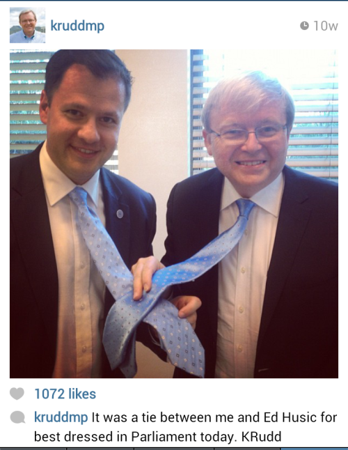 rohnert-park:  lushious:  Kevin Rudd's Instagram account is a national fucking treasure 'They tell me it is something to do with milkshakes'  omfg what a great man