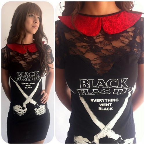 Another back in stock. #blackflag #etsy #handmade #lace #peterpancollar #veraseyecandy
