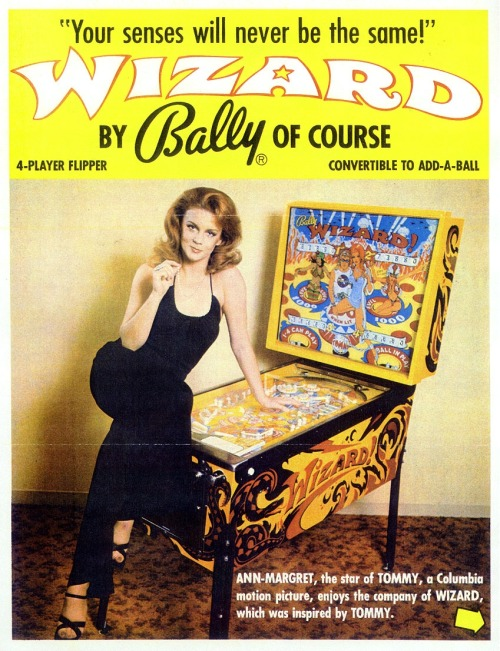 arcadepenny:  Bally Wizard! 1975  Bally made a shitton of awesome tables.