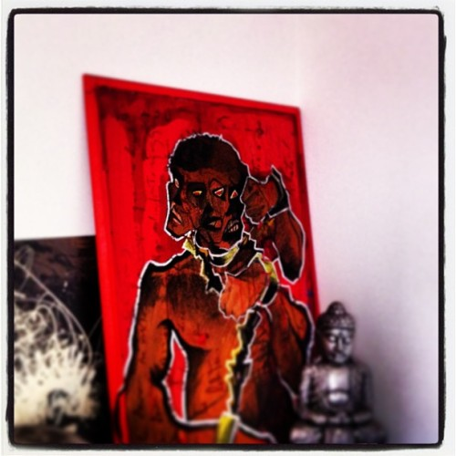 A gift from a friend #art #onitafaiac #voodoo #italy  (at ☀coinqui🍀home🌙)