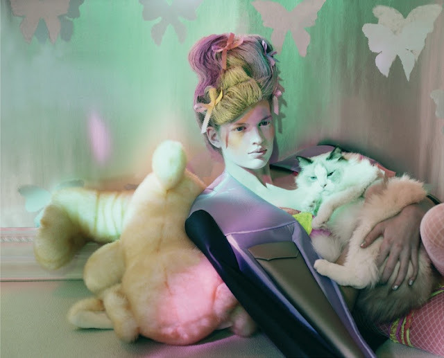 "herekitty:  ""Animal Attraction"": Bette Franke by Jeff Bark for Dazed & Confused"