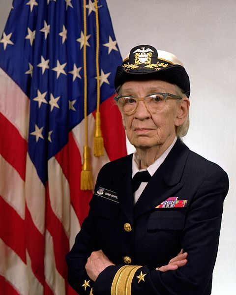 "monetizeyourcat:  thegreensage:  stefanhayden:  This is Rear Admiral Grace Hopper. She worked for UNIVAC in 1949 who made some of the first computers ever. In 1951 she discovered the first computer ""bug."". In 1952 she had an operational compiler. ""Nobody believed that,"" she said. ""I had a running compiler and nobody would touch it. They told me computers could only do arithmetic.""You might not know what a compiler is, but it's the reason you have an Operating System with programs on or a phone with apps. There would be no Windows or Apple or facebook or twitter or tumblr without her.Today 14% of engineers are female. Some thing when wrong. Grace Hopper is a BAMF and more people should know.  GRACE HOOPER ROCKS!!!  personality tests were developed in the 60s in response to widespread unease in academia and the research industry with how many programmers and computer operators were women; the modern image of the programmer as having male-leaning antisocial traits was basically developed by HR managers during the johnson administration when grace hopper was young she was basically typical of her profession and now people like her are systematically excluded"