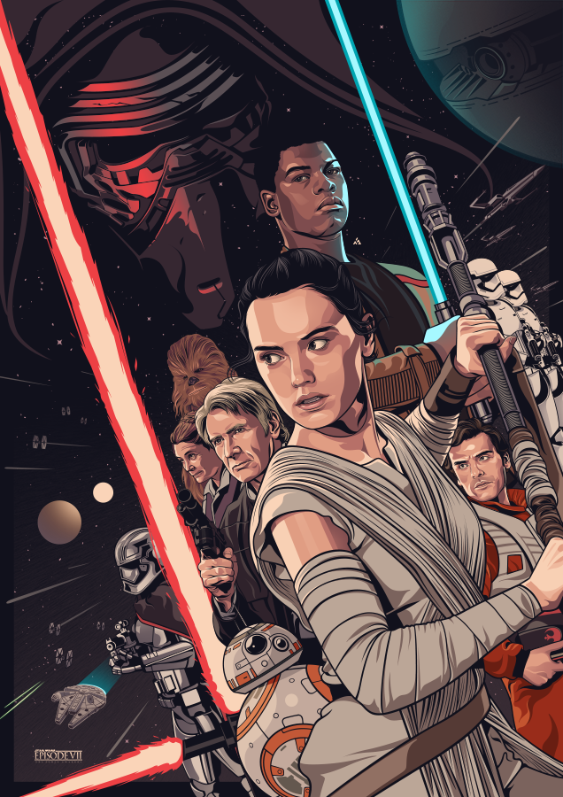 Star Wars: The Force Awakens by Amien Juugo