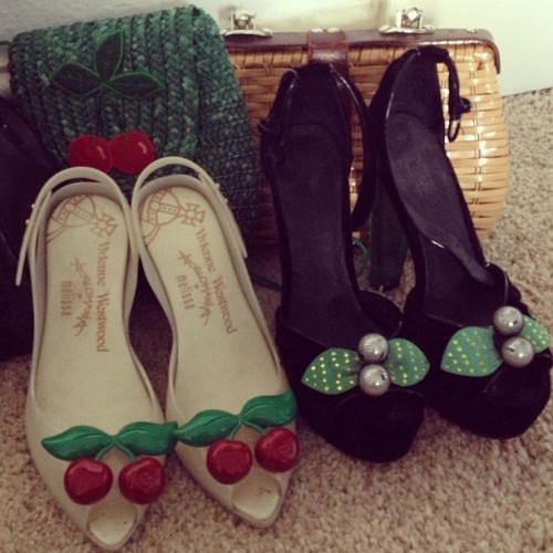 cherriesandpsychobetties:  Ahh pretty babies #viviennewestwood #cherries #rockabilly
