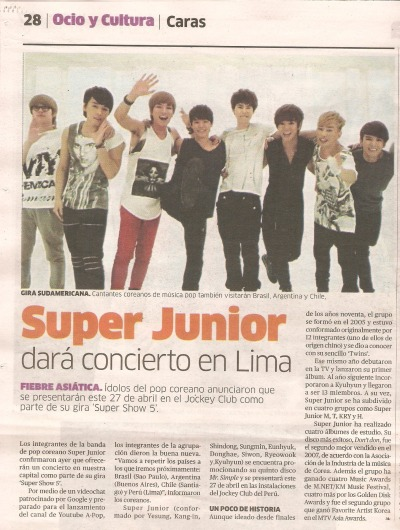 Super junior en PERU