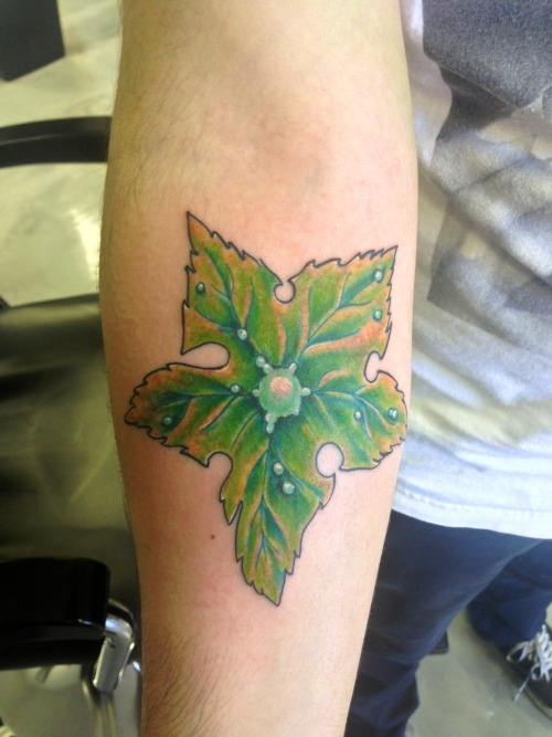 tinytangerines:  fuckyeahtattoos:  Treestar from 'The Land Before Time' for my mother. Done by Joe Ortega at Showdown Tattoo in La Puente, CA  this is giving me so many feels ;u;