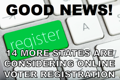 Online voter registration is being an increasingly popular idea. 13 states allowed residents to register online during the 2012 election, and now 14 more states are considering it. What's your opinion? LIKE if you support online voter registration, REBLOG if you would rather register via pen and paper.    Also, check out OurTime.org's policy prescriptions for modernizing our voting system: http://www.ourtime.org/lessons-from-2012-election/ and for today's full translation, click here!