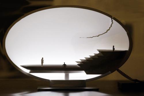 broken egg architectural installation by ingo maurer image © designboom ingo maurer designs an architectural installation straight out of science fictionfor an artpark in brazil.more details
