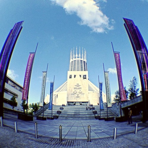 #metropolitan #church #fisheyelens (presso Metropolitan Cathedral of Christ the King)