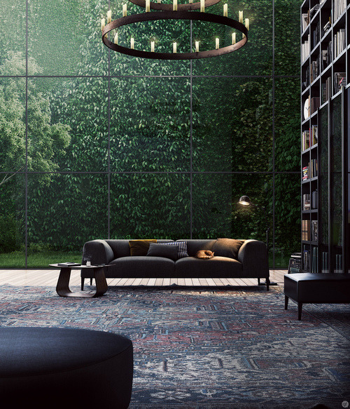Source: Poliform Another current obsession…….vertical living plant walls. I find this image haunting and beautiful and I'm dying to try this on a smaller scale.