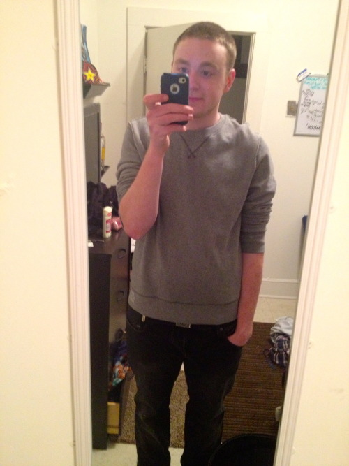hashtagbfox:  i feel so grown up wearing a sweater and everything