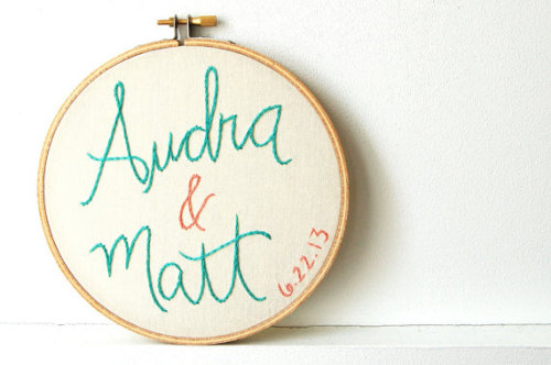 (via Embroidered Wedding Ideas: 8 Incredibly Fun Finds | Emmaline Bride®)