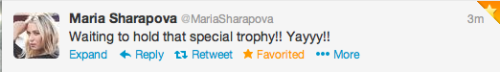 his7ory:  haha love how she's tweeting before the trophy presentation