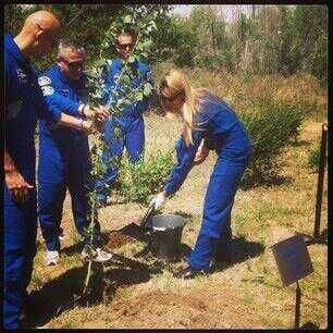 "Cosmonauts/Astronauts since Yuri Gagarin have planted trees along the ""avenue of Cosmonauts"". Today, we planted ours."