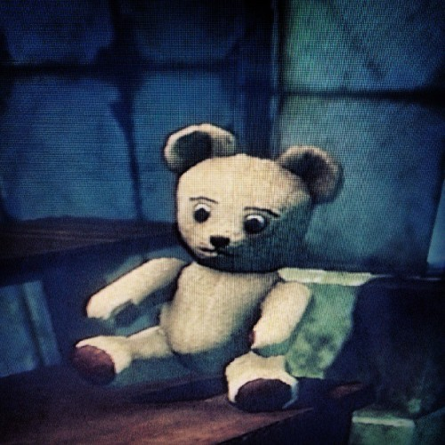 eeshameows:  Playtime :) #teddybear #bioshock #gaming #ps3 #2kgames