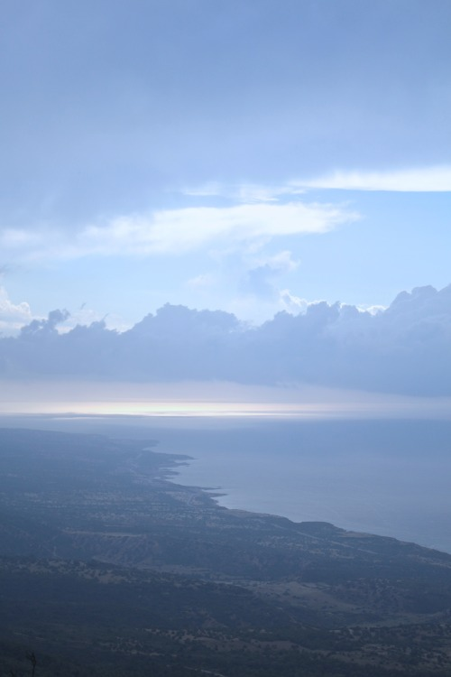 """Nightfall"", a photograph from a week ago, overlooking Cyprus from Katara Castle. Let there be love. I hope you had a great weekend. ~F."
