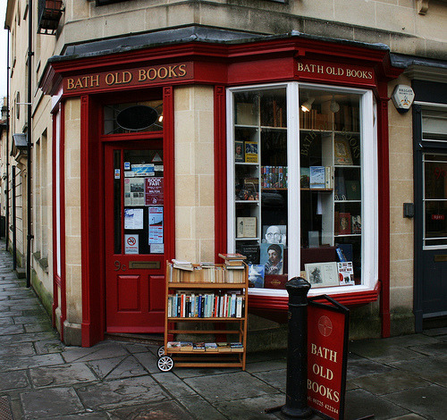 Bath Old Books, Bath. A bookshop located at 9c Margarets Buildings in the Avon town of Bath that offers a good range of second-hand stock on two floors. Bath Old Books particularly caters for readers interested in art books, illustrated books, children's books, literature, topography and travel. (Photo by Mcalister.C)