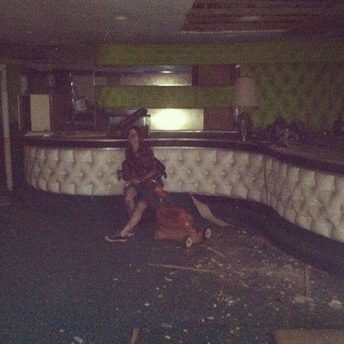 undertherumtree:  Barfly. #urbex #abandoned #selfie