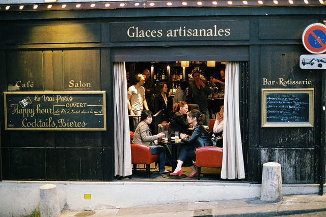 | ♕ |  Paris Cafe Bar in Montmartre  | by © Jason R Black | via ysvoice