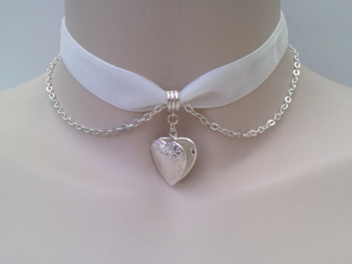 bombisbomb:  Silver Heart Choker $7.80 Just FIY, I got 2 of these in the mail (1 for me, 1 for the Giveaway) and it's absolutely gorgeous! Well-worth the price, and shipping to the US was super fast. I'll do a full review, soon.