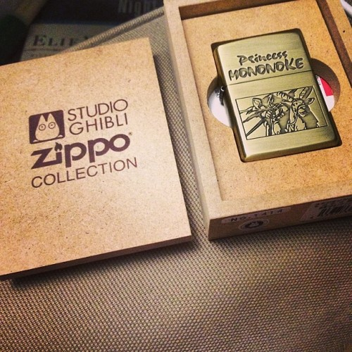 I have the bestest bestfriend ever. I love it. Very nice graduation gift.  #lighter #studioghibli #princessmononoke #zippo