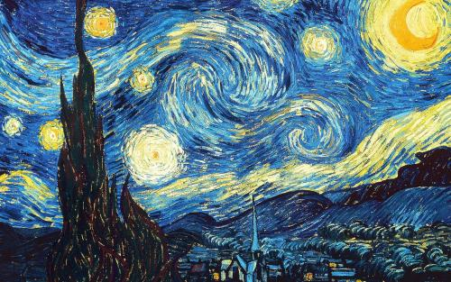 humortrain:  Look at the center of this image for 30sec, then watch Van Gogh's *Starry Night* come to life