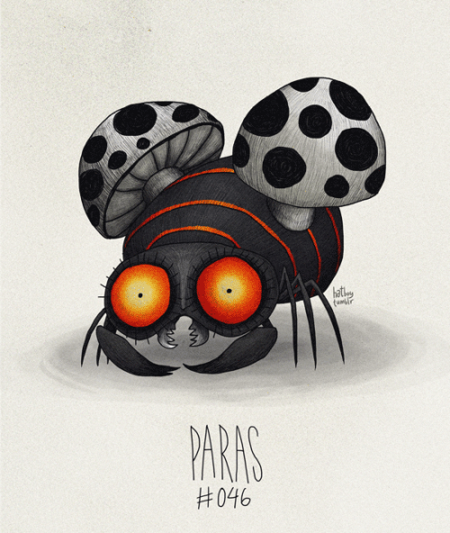Paras #046 Part of The Tim Burton x PKMN Project By Vaughn Pinpin  EDIT: FIXED! Thanks dudes!