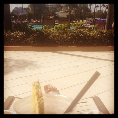 Piña colada pool side = my version of day before race day preparation.