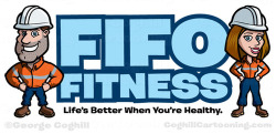 Construction Worker Cartoon Logo - Fifo Fitness on Flickr.
