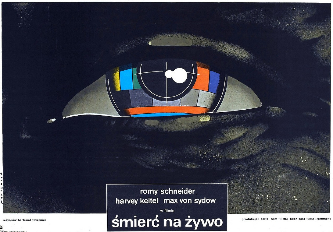 kateoplis:  Polish poster for Bertrand Tavernier's Death Watch (1980)