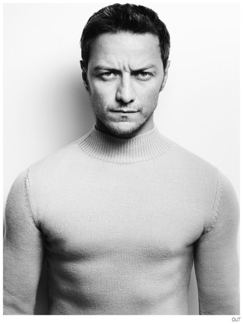 """lisa401971:  James Mcavoy by Matt Irwin for Out Magazine, October 2014  """"I … have always wanted to play [with] those parts,"""" the 35-year-old Scotsman said in a recent interview withOut Magazine. """"[We]'re just not so [hot n'] bothered now about … [it]. It's a nice wee sign of the times."""""""