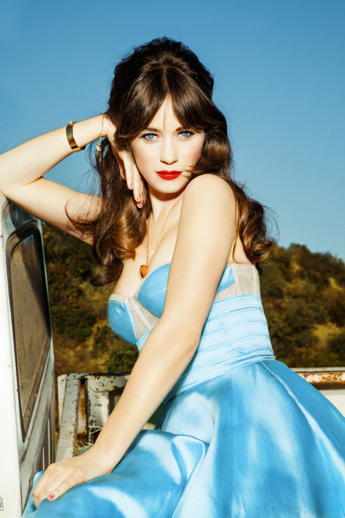 guestfromthefuture:  Zooey Deschanel – Ellen Von Unwerth Photoshoot for Glamour (February 2013) Click on the picture for the full-size view.