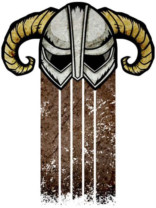 Dovahkiin The iconic helm from Skyrim Tees and stickers at Redbubble! - LINK