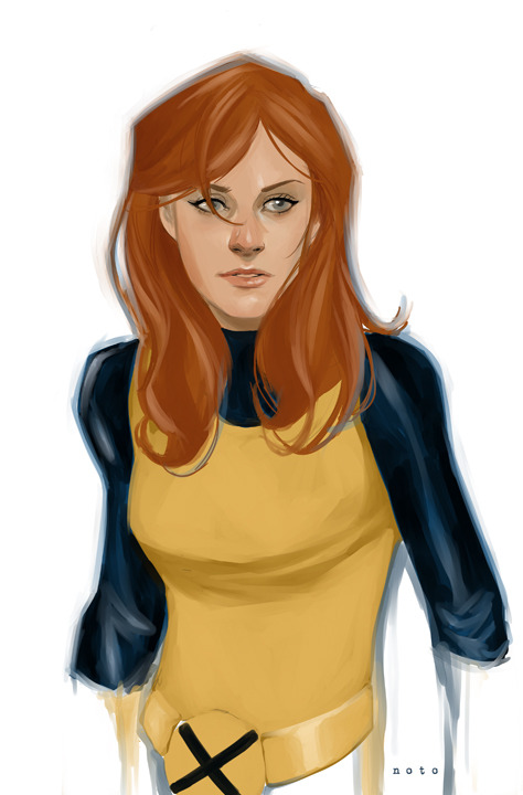 philnoto:  Marvel Girl - Just got Manga Studio 5 yesterday and wanted to try out the colors on it. I LOVE the oil and watercolor brushes. Very easy to use and a great natural look to them. Highly recommended.  Phil Noto draws the prettiest ladies.