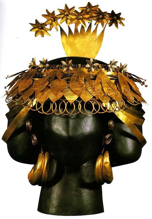 allmesopotamia:  Headdress of Sumerian queen Puabi