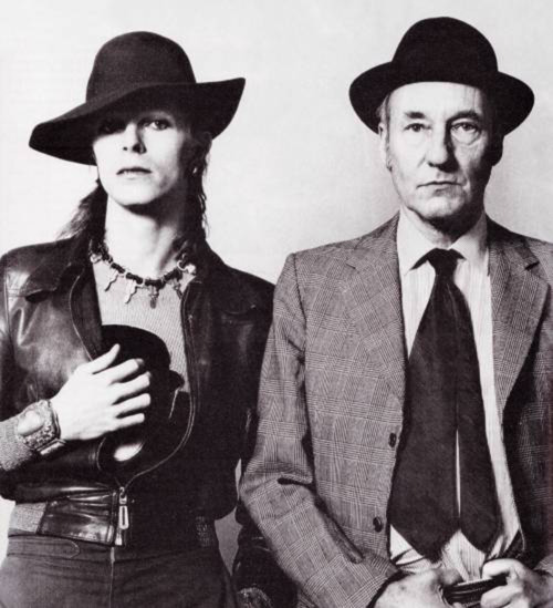 William S. Burroughs with people. Happy birthday, Mr. Burroughs.