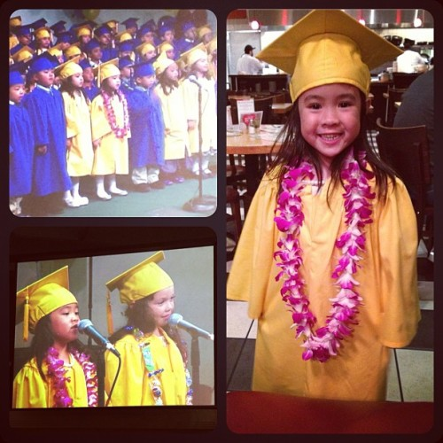 My witto pre-school graduate! Growing up too fast Chloe! 🌸🎓