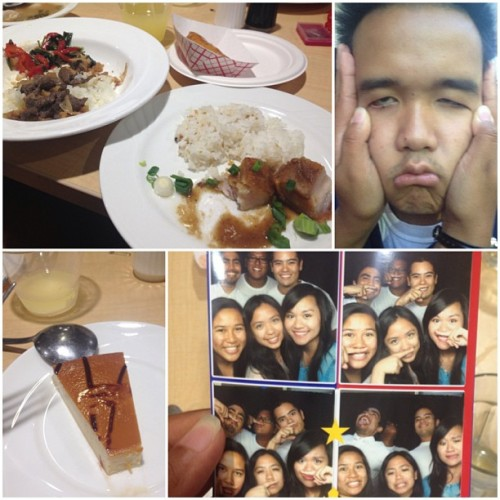 Filipino Themed Dinner was not bad at all! Got me some #sinigang #lechon #bistek #lecheflan #doremigos oh and I found a wild @hooycarlo running around… LOL
