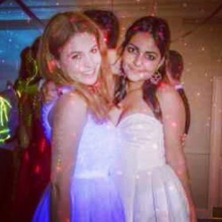 #me #and #fee #glowing #dress #prom #smile #happy #instapic #instagood