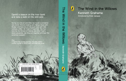 My cover design for Wind in the Willows. I didn't really know what to with the text, so stayed pretty safe. It's not a very traditional cover, but I wanted to show the stranger, mystical side of the story and have fun warping the usual depiction of the characters.