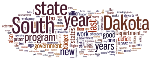 A word cloud of Gov. Dennis Daugaard's State of the State speech, as prepared for delivery. (The speech as delivered was somewhat different.) Here's the text of the speech, as prepared.