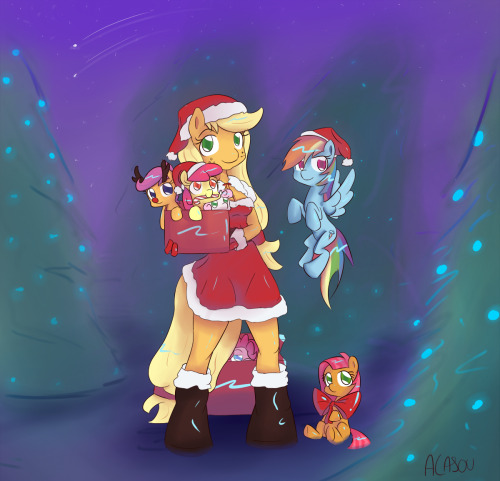 "Merry Christmas everybody ! AJ is best Mare Noël ! (I've made a pun in French and English ! Mrs Claus in French is ""Mère noël"". And ""mère"" sound the same that ""mare"". It's funny ! … I'm tired, ok ?!)"